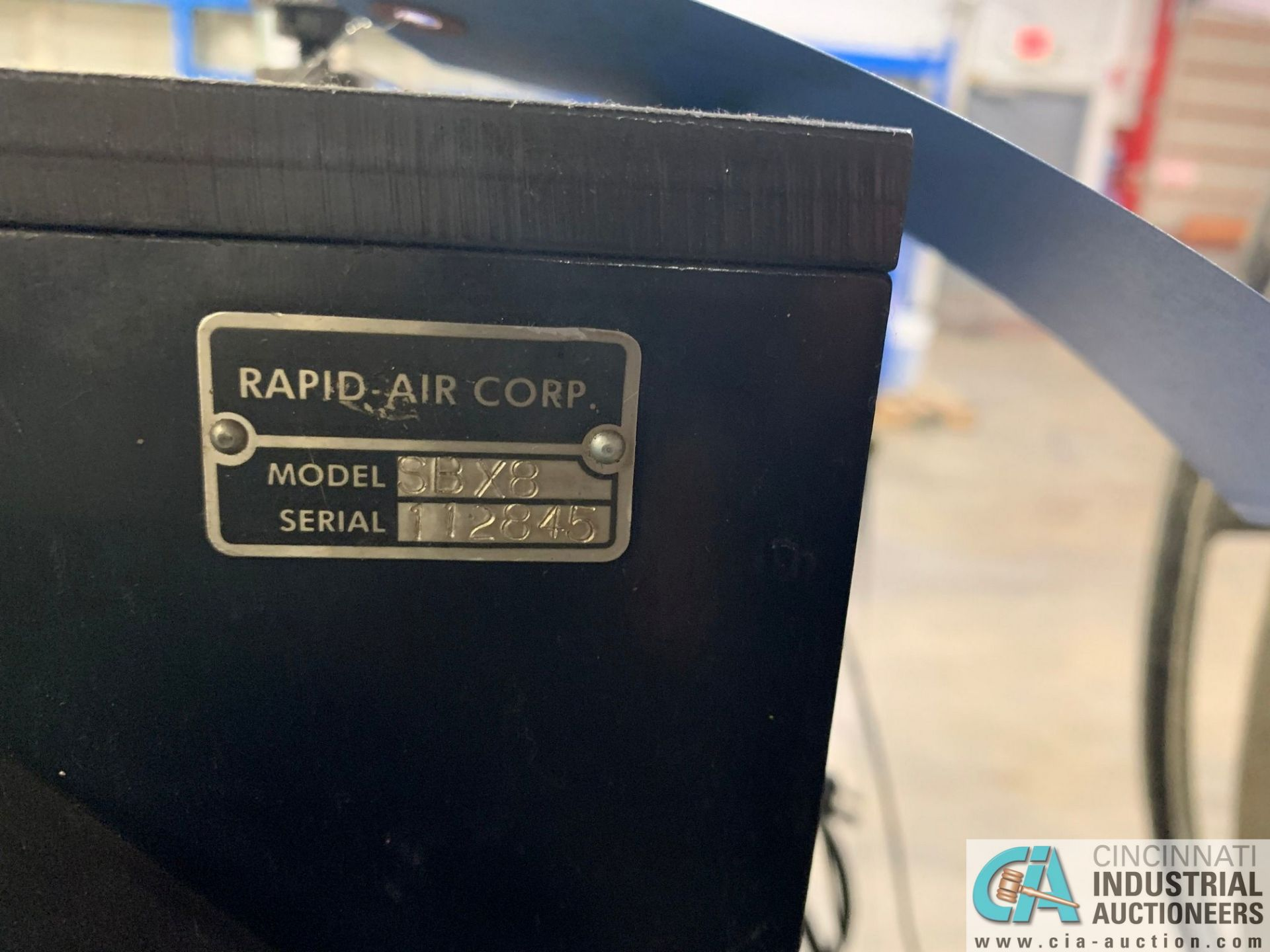 RAPID AIR FEED SYSTEM MODEL RS79AP DE UNCOILER; S/N 83383 AND MODEL SBX8 STRAIGHTENER - Image 8 of 10