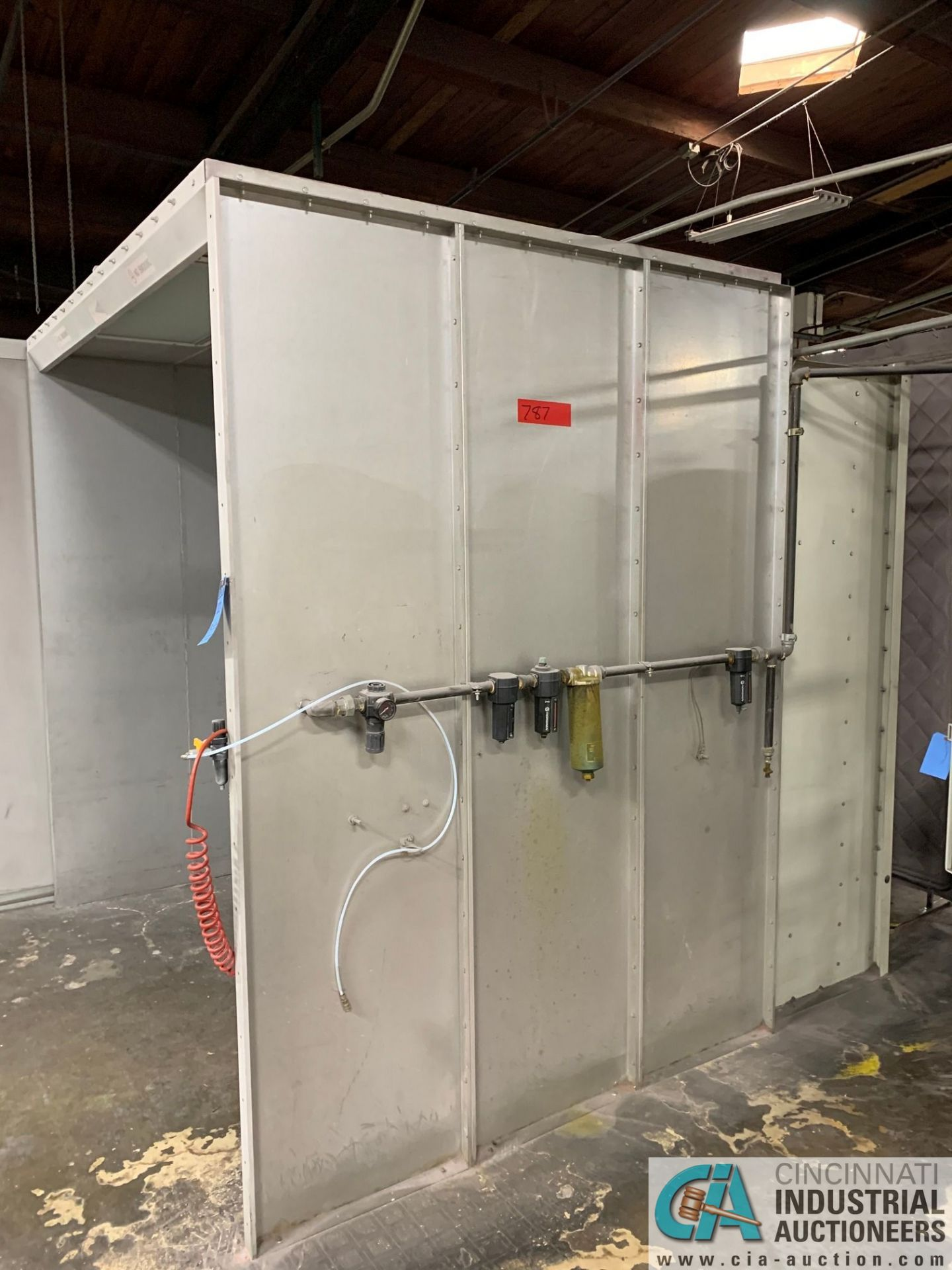 "8' X 6' X 90"" DEIMCO PWI-08-08-06-2-3K POWDER COAT BOOTH - Approx. $30,000 replacement cost - Image 3 of 11"