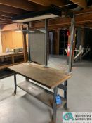 "30"" X 60"" X 34"" HIGH STEEL FRAME MAPLE TOP WORK STATIONS"