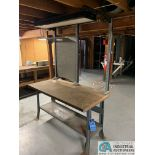 """30"""" X 60"""" X 34"""" HIGH STEEL FRAME MAPLE TOP WORK STATIONS"""