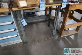(LOT) (4) MISCELLANEOUS STEEL AND MAPLE TOP WORKBENCHES **DELAY REMOVAL - PICKUP 10-9-2020**