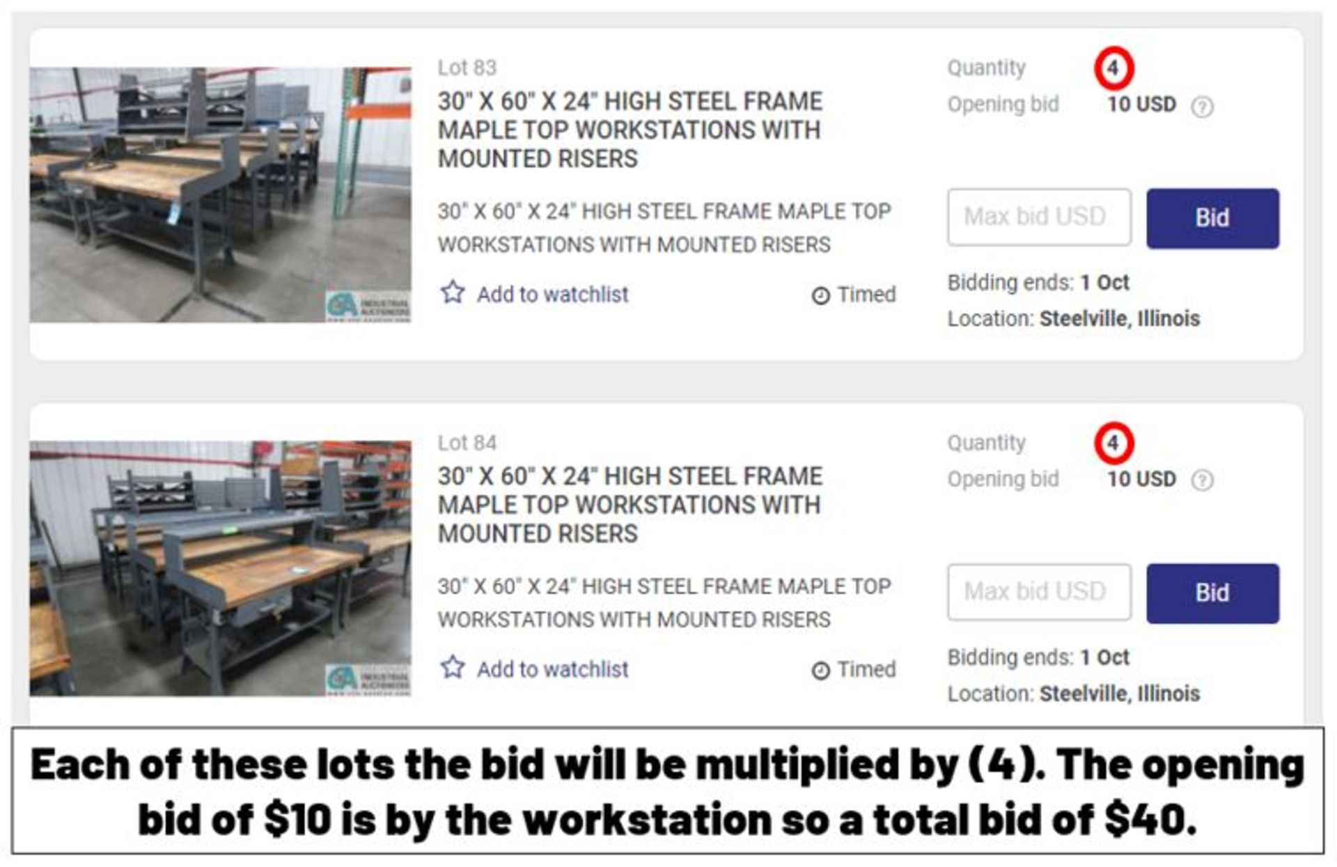 IMPORTANT NOTICE – On lots with a quantity your bid will be multiplied by that amount. - Image 2 of 4