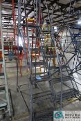 SEVEN STEP COTTERMAN AND SIX STEP BERG PORTABLE WAREHOUSE LADDERS
