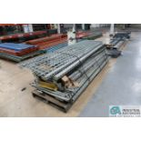(LOT) GLOBAL INDUSTRIAL PALLET RACK, (7) 2' X 8' UPRIGHTS, MISCELLANEOUS BEAMS AND WIRE DECKING