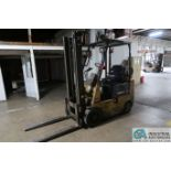 3,000 LB. CAPACITY CATERPILLAR MODEL GC15 LP GAS SOLID TIRE LIFT TRUCK; S/N 2EM00645, SIDE SHIFT,