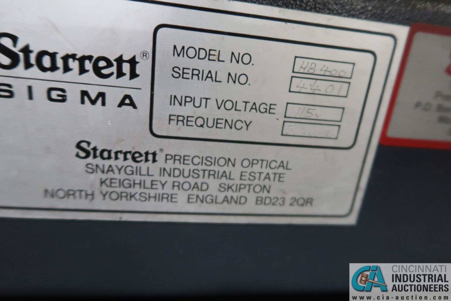 """16"""" DIAMETER STARRETT SIGMA HB-4000 BENCH MOUNTED OPTICAL COMPARATOR; S/N 4401, WITH QUADRA-CHEK - Image 6 of 6"""