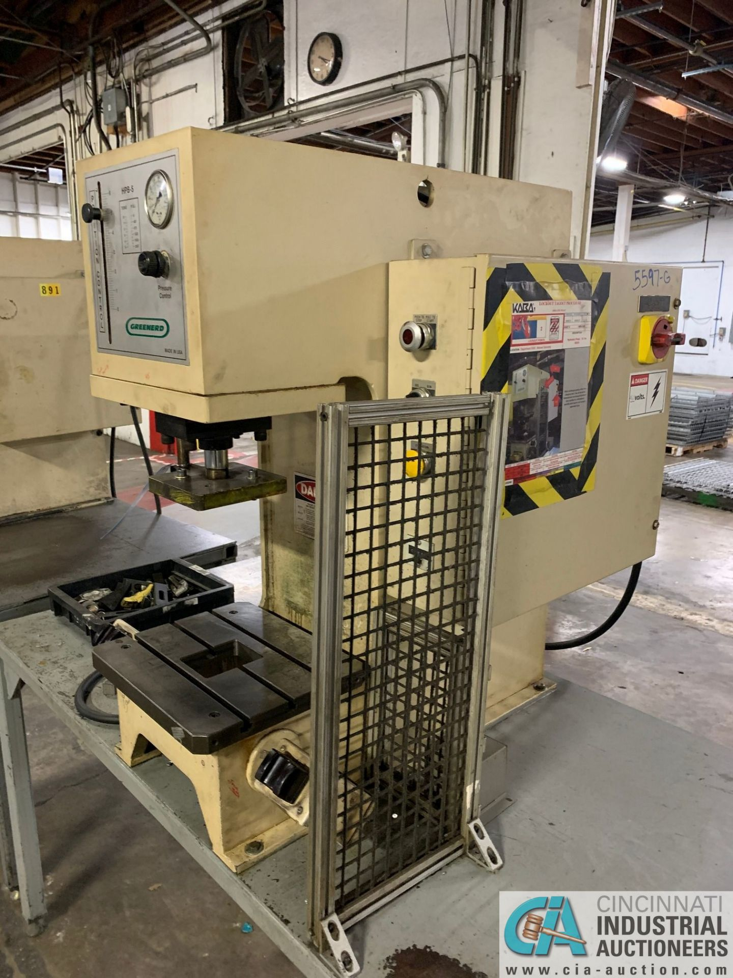 5 TON GREENERD HPB-5 HYDRAULIC PRESS; S/N T5935 (NEW 2000) WITH TABLE - Image 2 of 6
