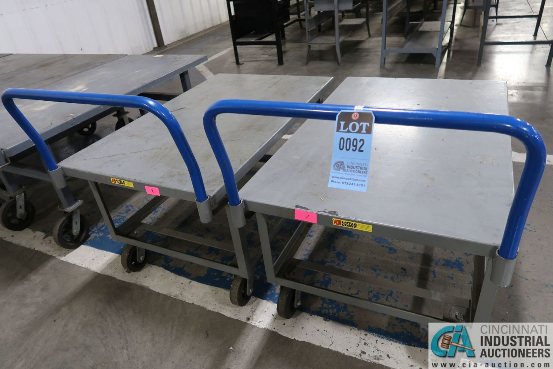 """30"""" X 48"""" X 26"""" HIGH LITTLE GIANT WELDED PORTABLE STEEL CARTS"""