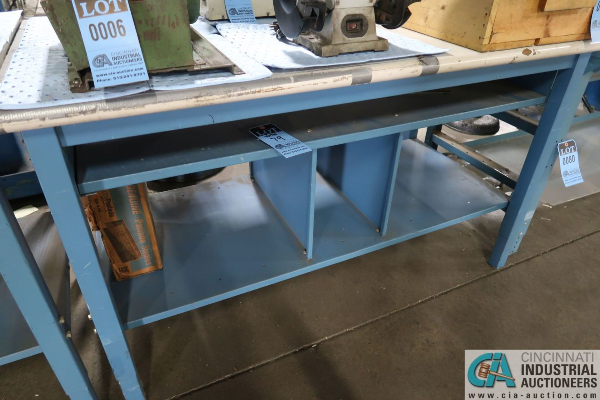 """ADJUSTABLE HEIGHT STEEL FRAME LAMINATED TOP WORK STATIONS, (1) 30"""" X 72"""" AND (1) 30"""" X 60"""" - Image 3 of 3"""