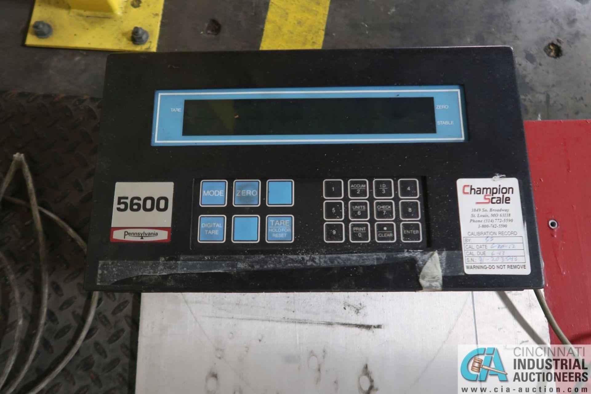 "5,000 LB. CAPACITY PENNSYLVANIA MDOEL 6600 48"" X 48"" PLATFORM SCALE WITH PENNSYLVANIA MODEL 5600 - Image 2 of 3"