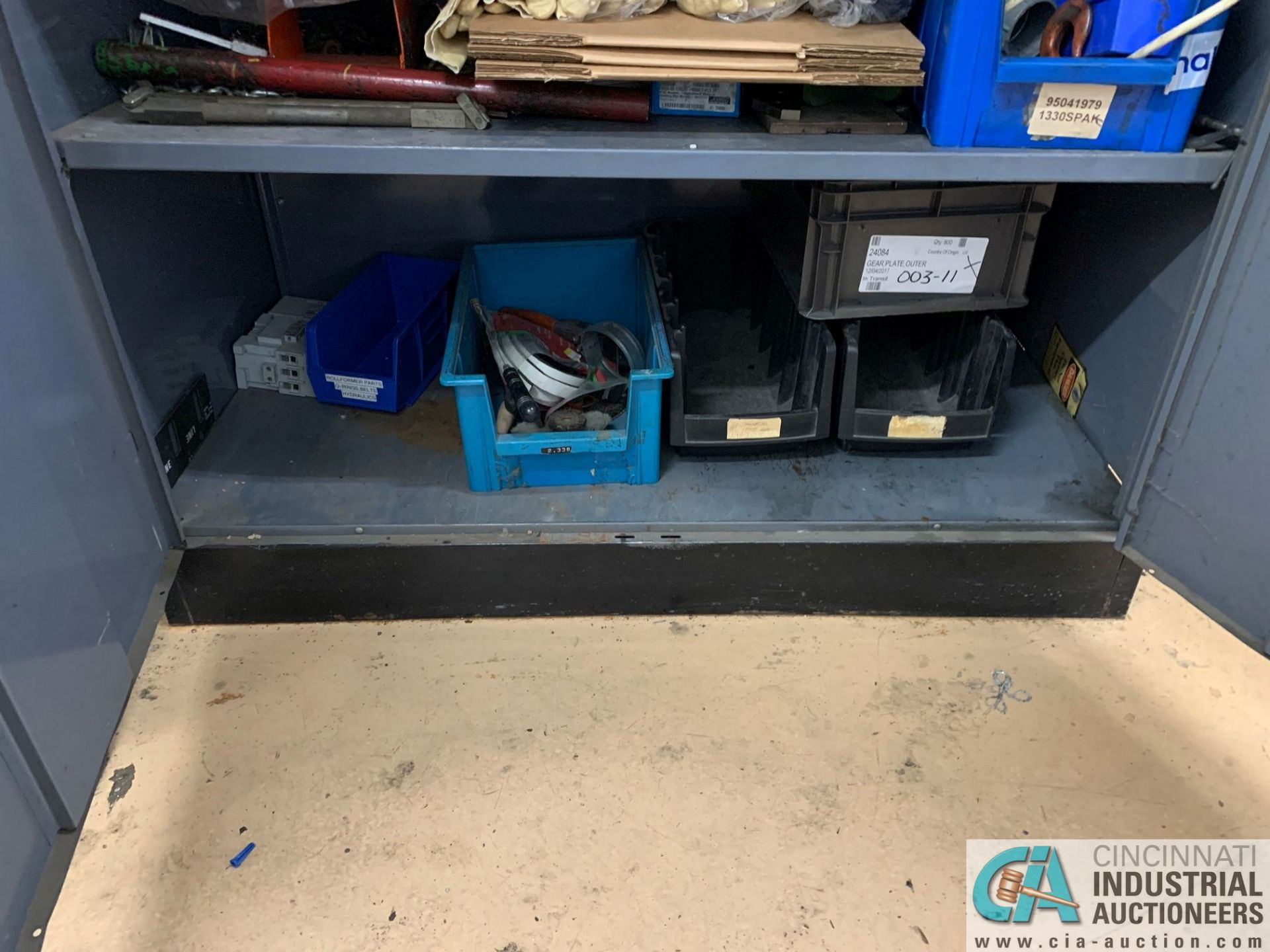 (LOT) (4) CABINETS WITH MAINTENANCE PARTS AND SUPPLIES, FUSES, WIRE, CONNECTORS AND RELATED - Image 4 of 13