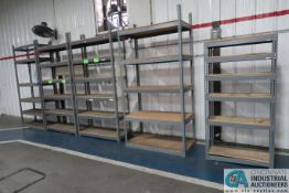 SECTIONS MISCELLANEOUS SIZE GLOBAL MULTI SHELF WOOD DECK SHELVING