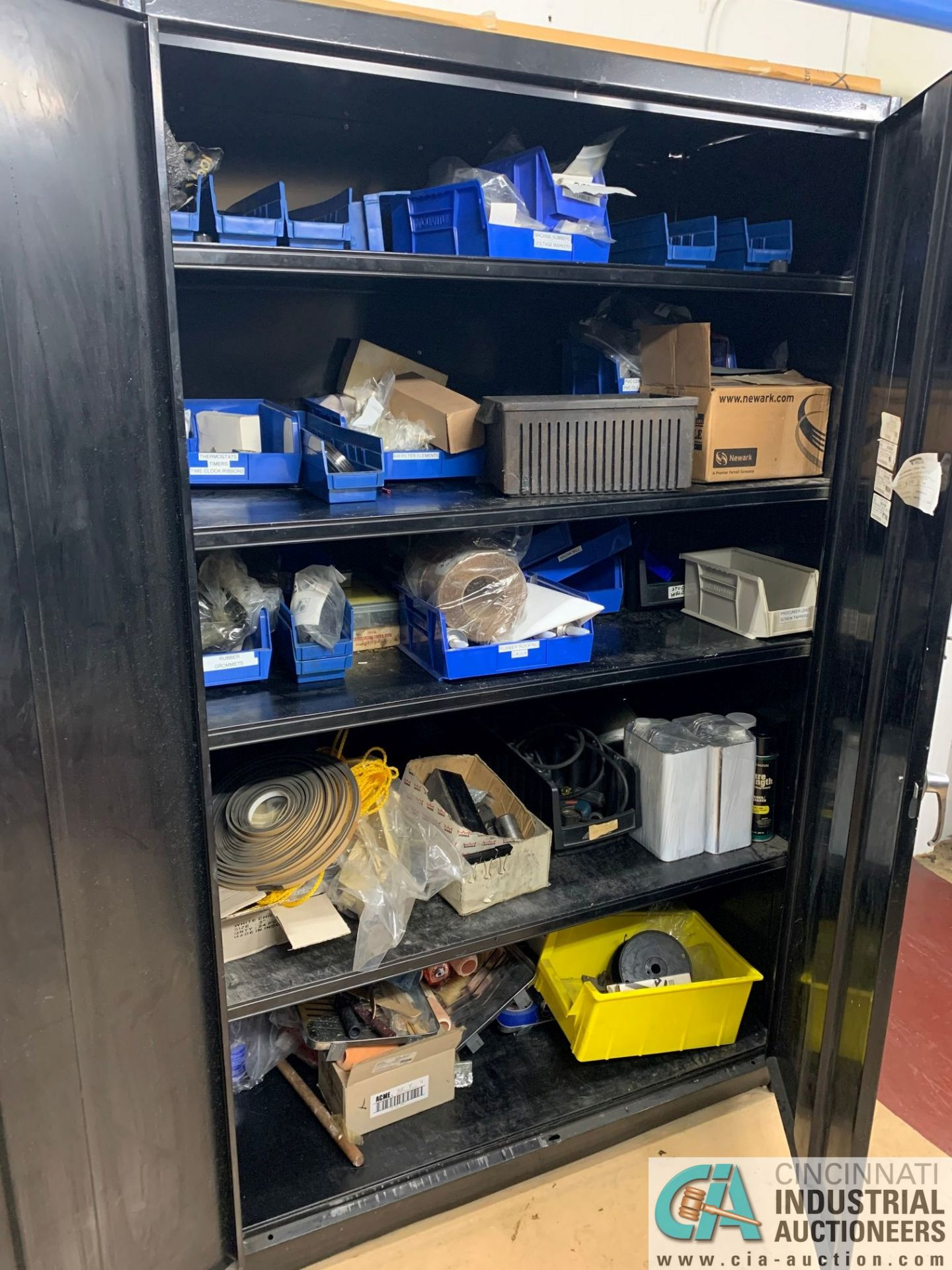 (LOT) (4) CABINETS WITH MAINTENANCE PARTS AND SUPPLIES, FUSES, WIRE, CONNECTORS AND RELATED - Image 11 of 13