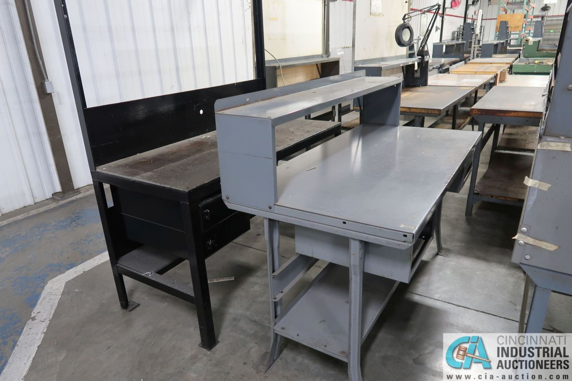 """30"""" X 60"""" X 34"""" HIGH STEEL WORK STATIONS - Image 3 of 4"""