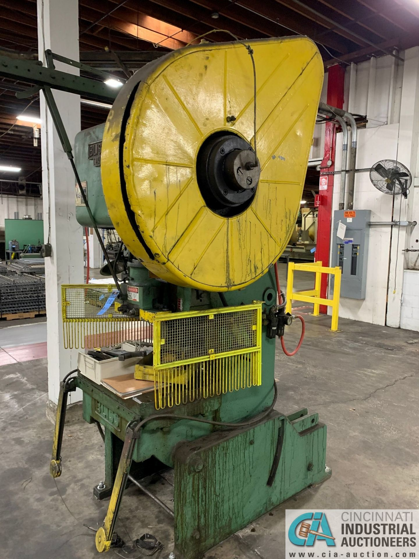 "45 TON BLISS C45 OBI PRESS; S/N N/A, 2.5"" ADJ., 3"" STROKE, 12.25"" SHUT HEIGHT - Image 2 of 6"