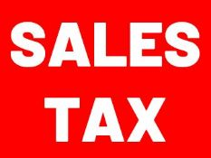 SALES TAX - All purchases subject to sales tax which will be automatically added to your invoice.
