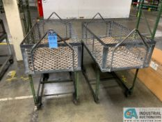 "24"" X 45"" X 14"" DEEP STEEL BASKETS WITH CARTS"