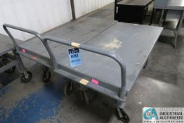 """30"""" X 60"""" X 28"""" HIGH JAMCO WELDED PORTABLE STEEL CARTS"""