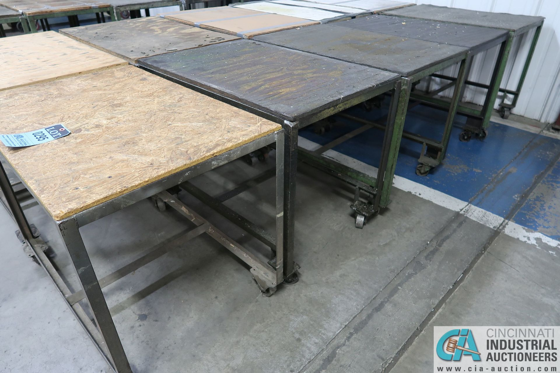 "24"" X 36"" X 28"" HIGH STEEL FRAME WOOD TOP CARTS - Image 2 of 2"