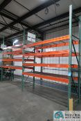 """Sections 36"""" x 108"""" x 12' High Pallet Rack; (3) Uprights, (16) 5"""" x 108"""" Beams, (16) Wire Decks"""