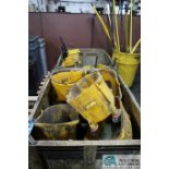 APPROX. MOP BUCKETS WITH MOP HANDLES