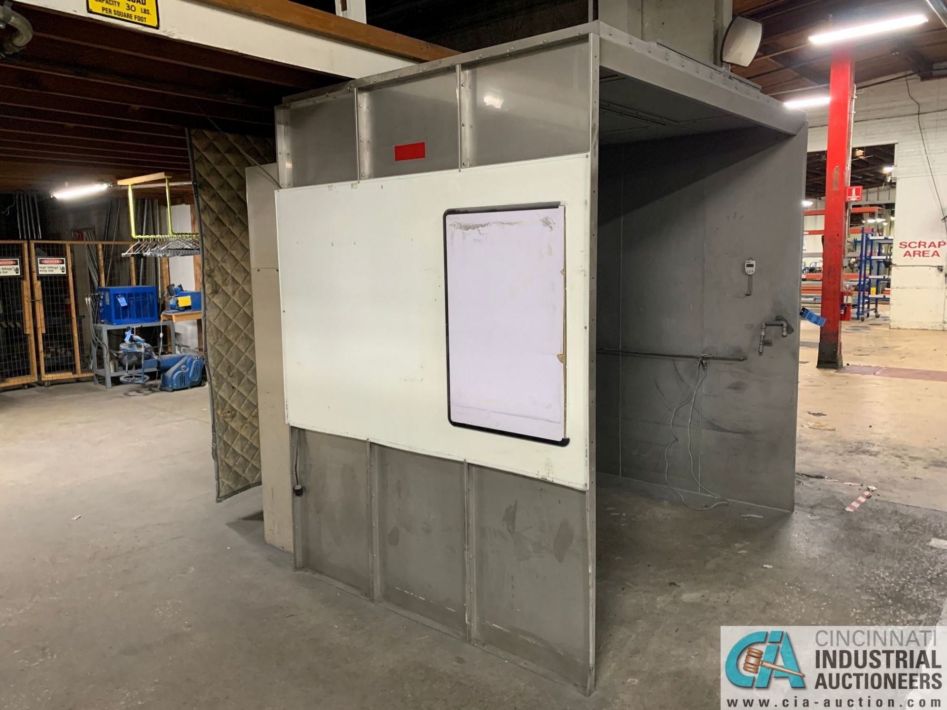"""8' X 6' X 90"""" HIGH (APPROX.) DEIMCO MODEL 3K REAR DRAFT WALK-IN POWDER COAT BOOTH; S/N 0791, WITH - Image 3 of 9"""