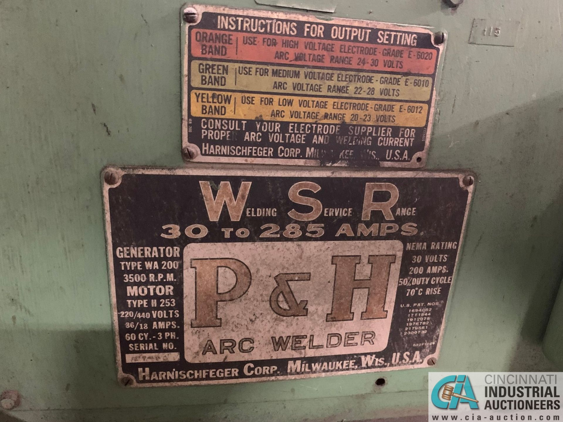 P&H ARC WELDER - Image 2 of 2