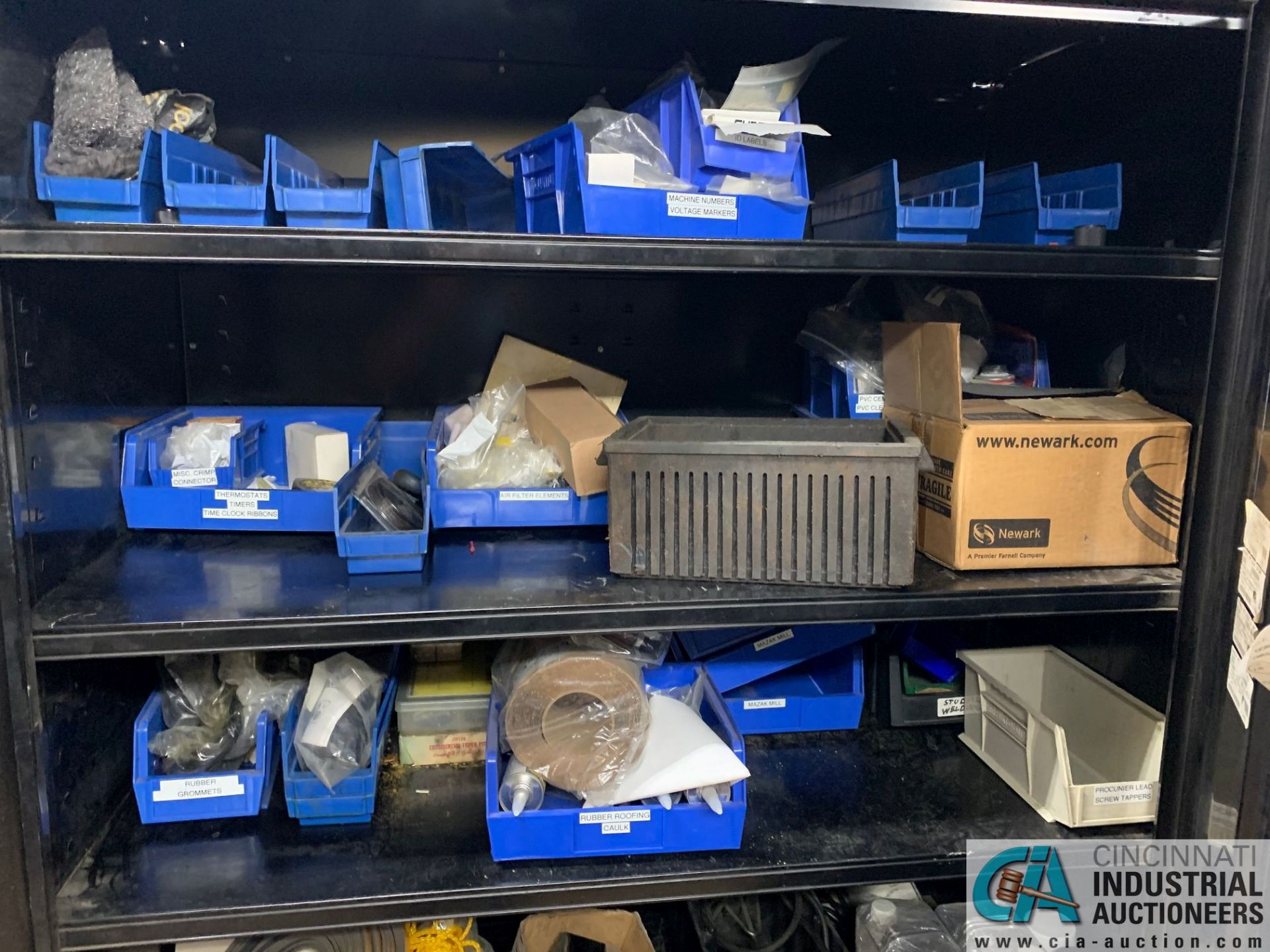 (LOT) (4) CABINETS WITH MAINTENANCE PARTS AND SUPPLIES, FUSES, WIRE, CONNECTORS AND RELATED - Image 12 of 13