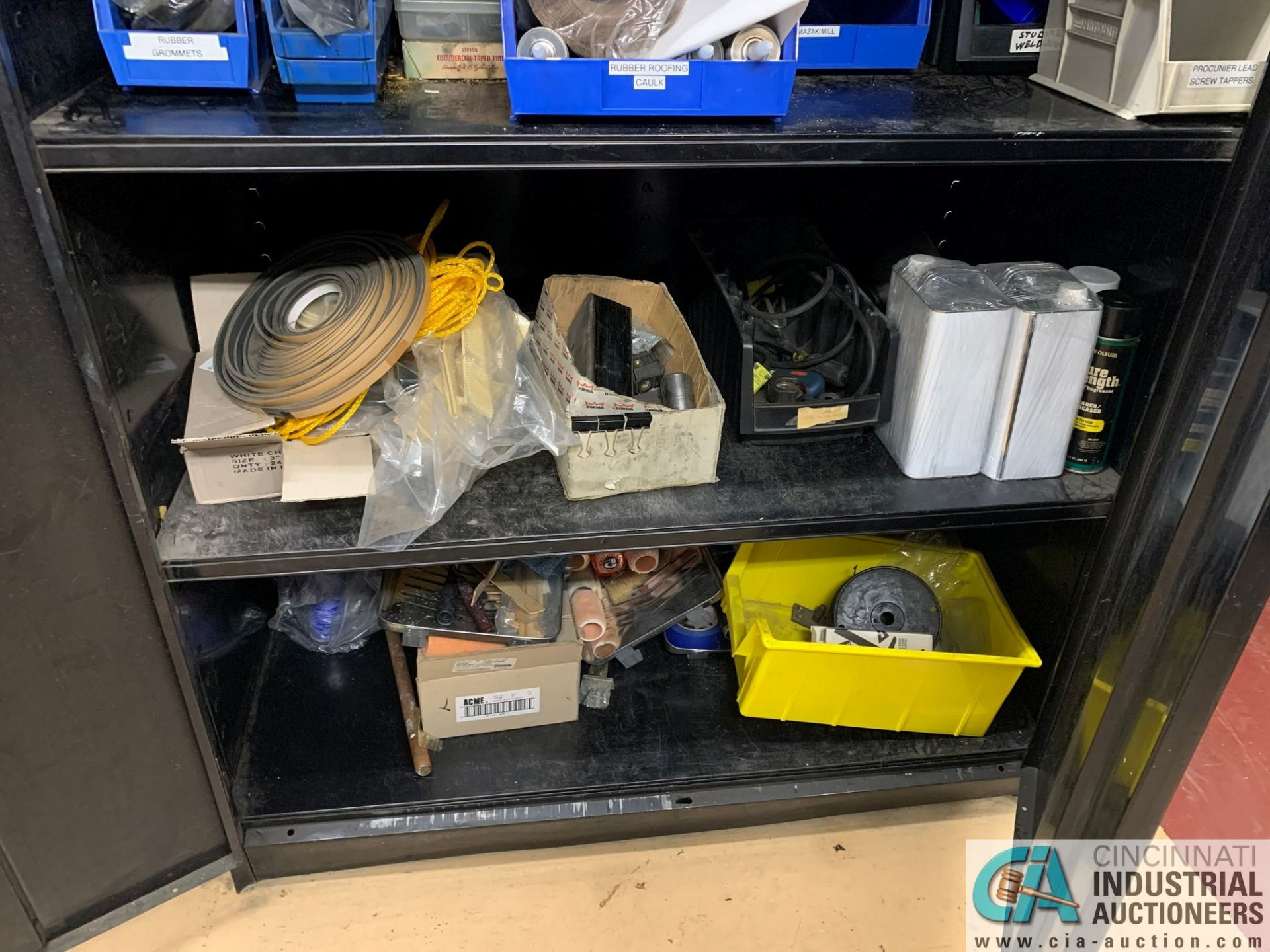 (LOT) (4) CABINETS WITH MAINTENANCE PARTS AND SUPPLIES, FUSES, WIRE, CONNECTORS AND RELATED - Image 13 of 13