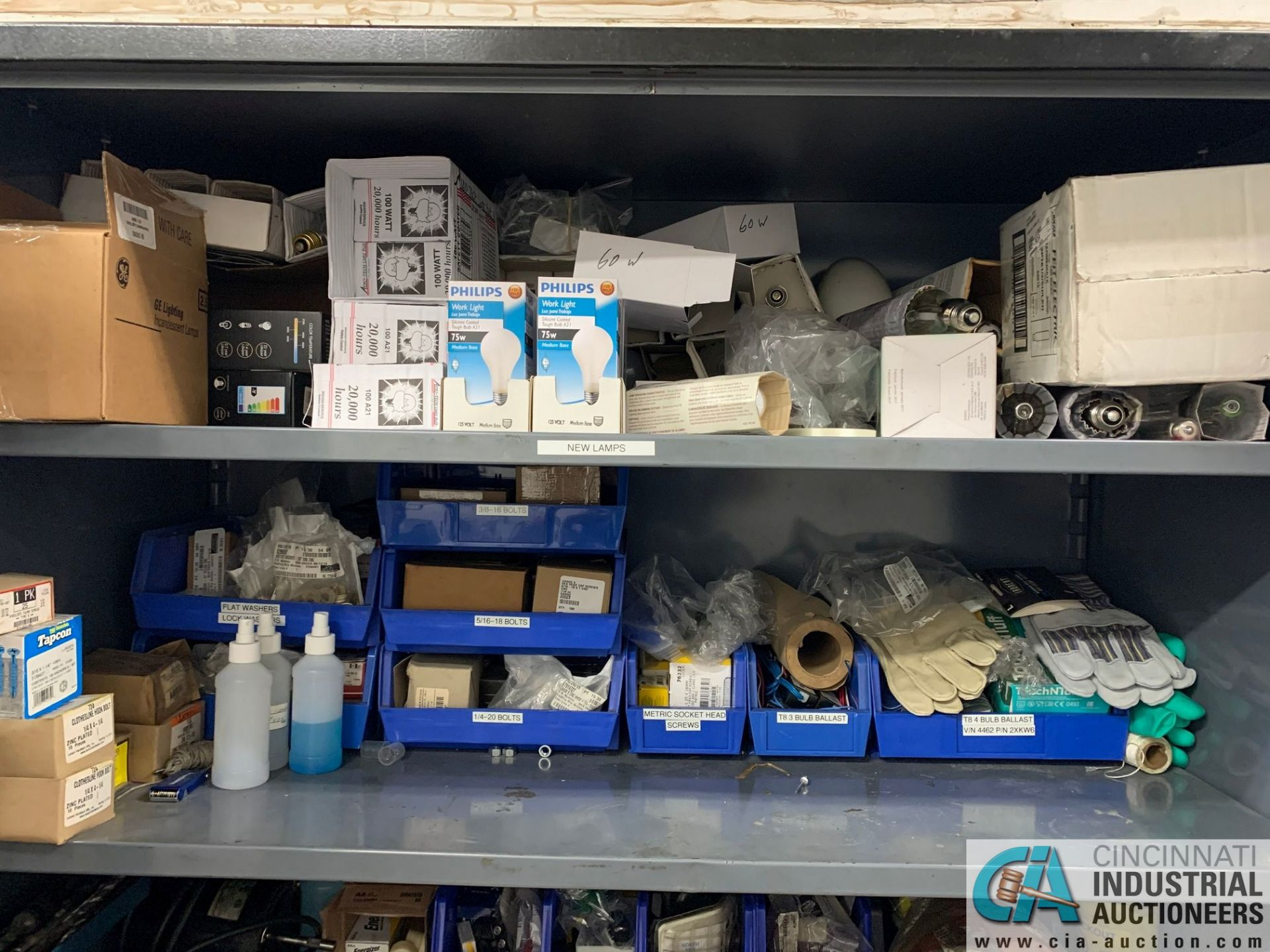 (LOT) (4) CABINETS WITH MAINTENANCE PARTS AND SUPPLIES, FUSES, WIRE, CONNECTORS AND RELATED - Image 2 of 13