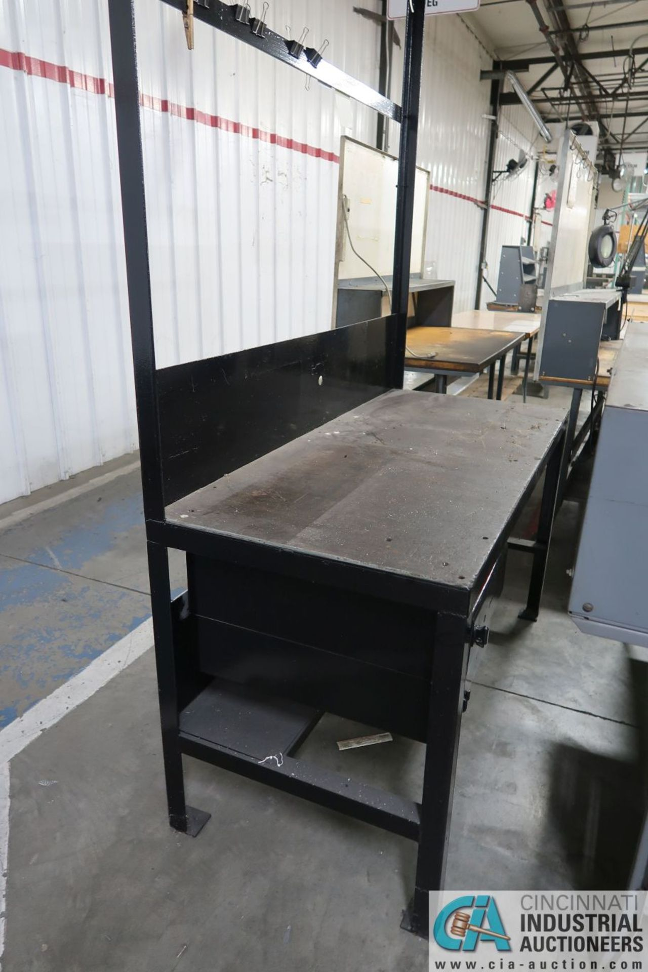 """30"""" X 60"""" X 34"""" HIGH STEEL WORK STATIONS - Image 4 of 4"""