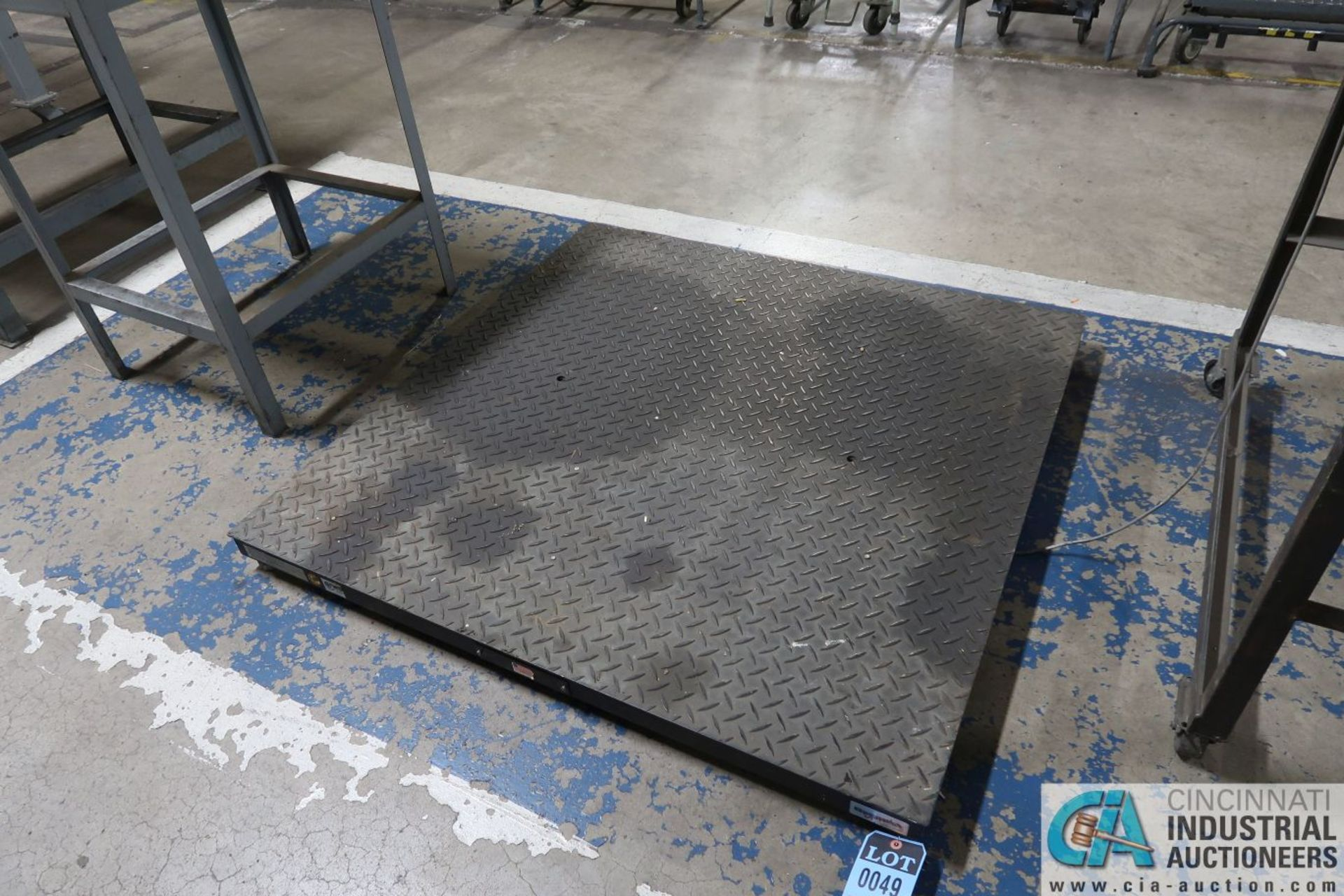 """5,000 LB. CAPACITY PENNSYLVANIA MODEL 6600 48"""" X 48"""" PLATFORM SCALE WITH GSE 574 BENCH COUNTING"""