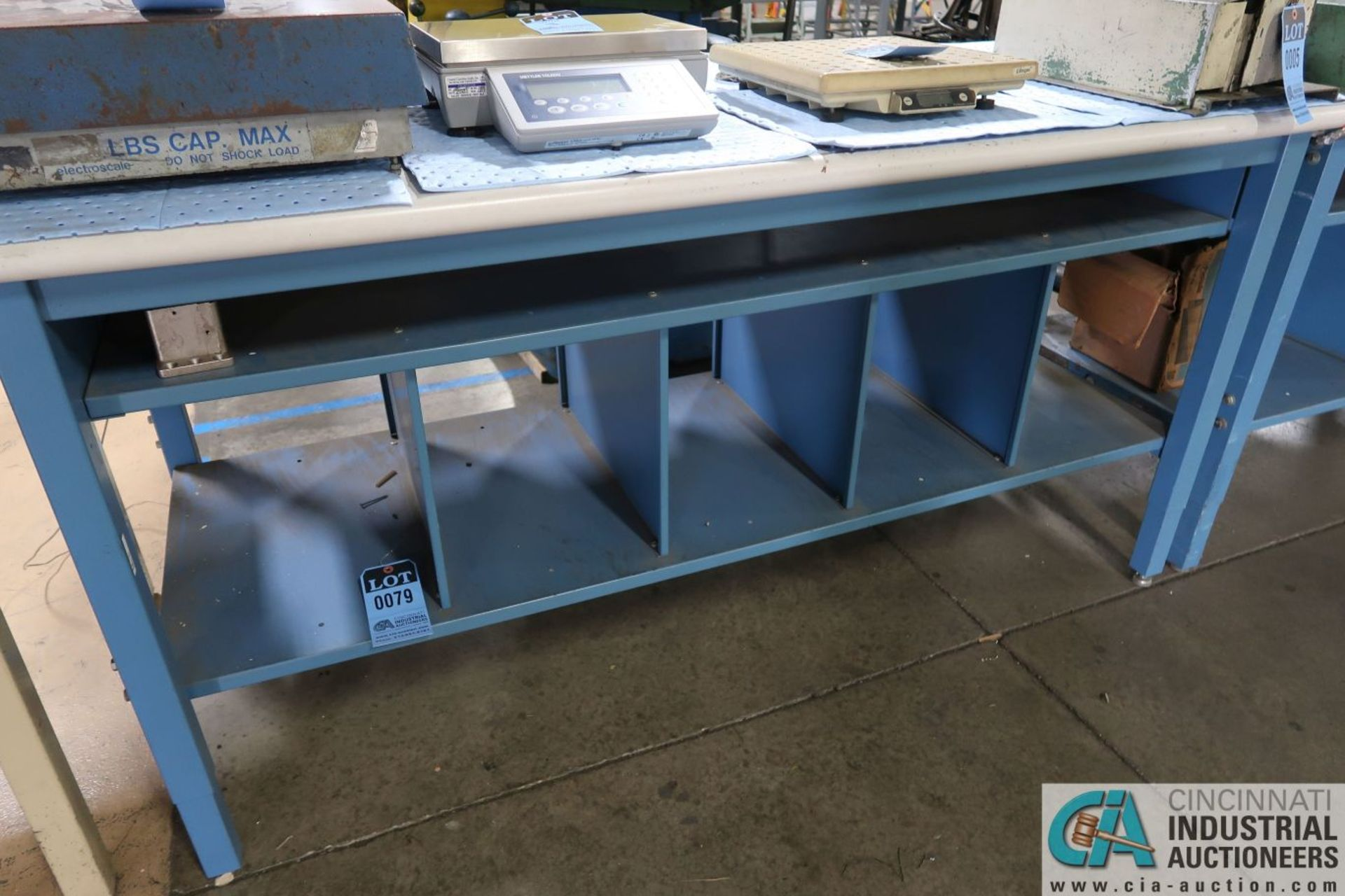 """ADJUSTABLE HEIGHT STEEL FRAME LAMINATED TOP WORK STATIONS, (1) 30"""" X 72"""" AND (1) 30"""" X 60"""" - Image 2 of 3"""