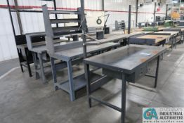 "30"" X 60"" X 34"" HIGH STEEL WORK STATIONS"