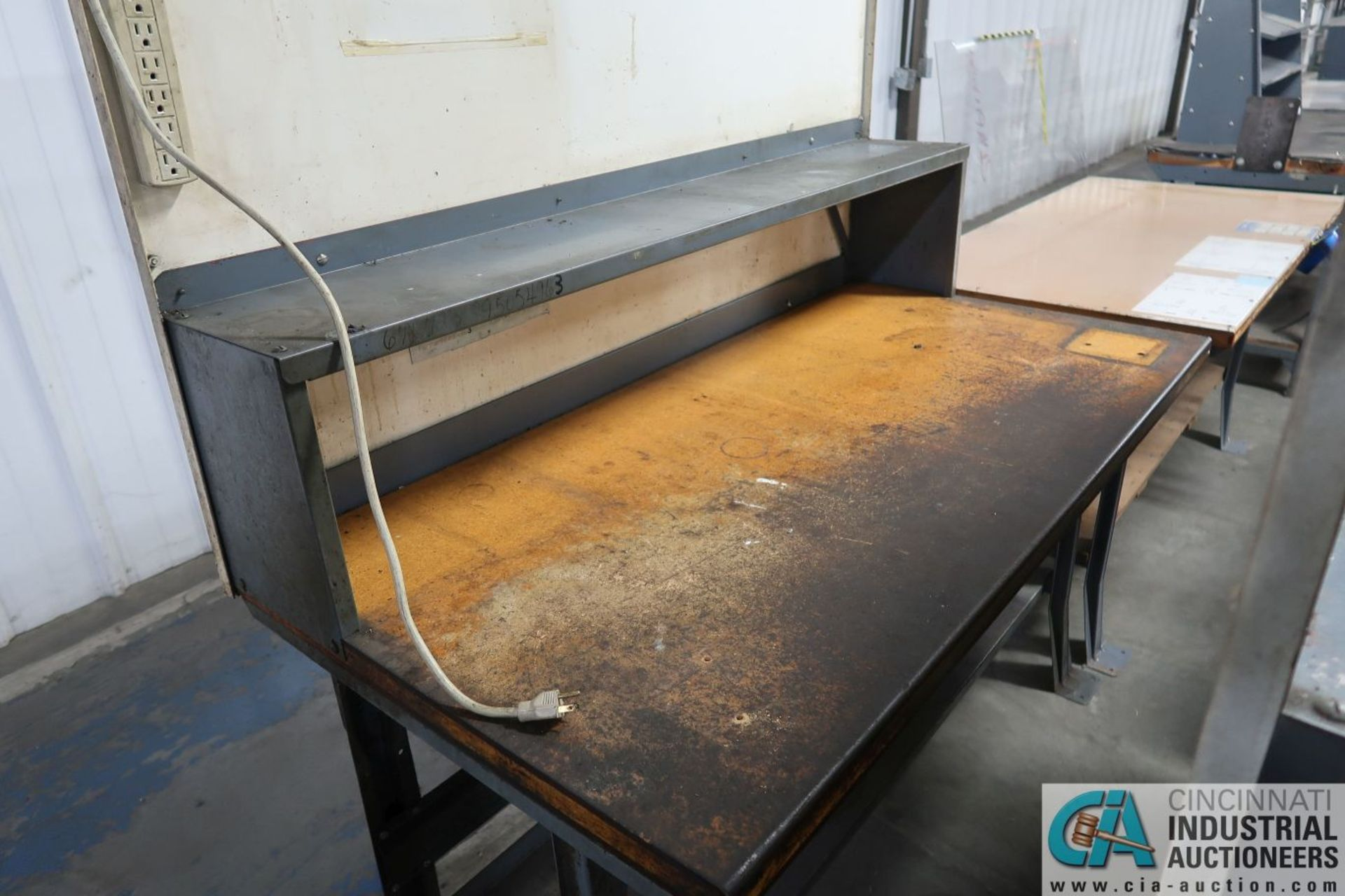 """30"""" X 72"""" X 34"""" HIGH STEEL FRAME MAPLE TOP WORK STATIONS - Image 4 of 4"""