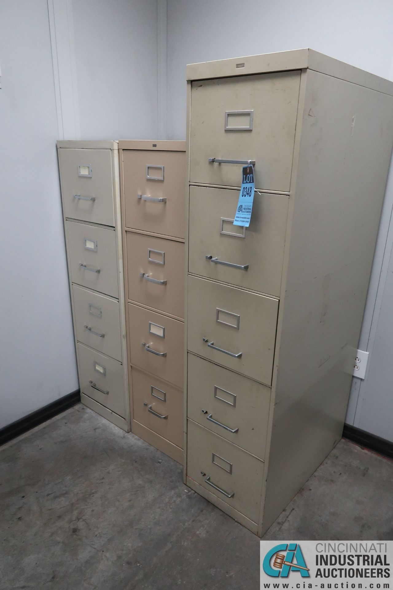 (LOT) FILE CABINETS AND CHAIRS IN SHIPPING RECIEVING OFFICE **NO AC UNIT**