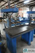"15"" WALKER-TURNER SINGLE SPINDLE MACHINE BASE MOUNTED DRILL, 24"" X 40"" DRILL BASE"