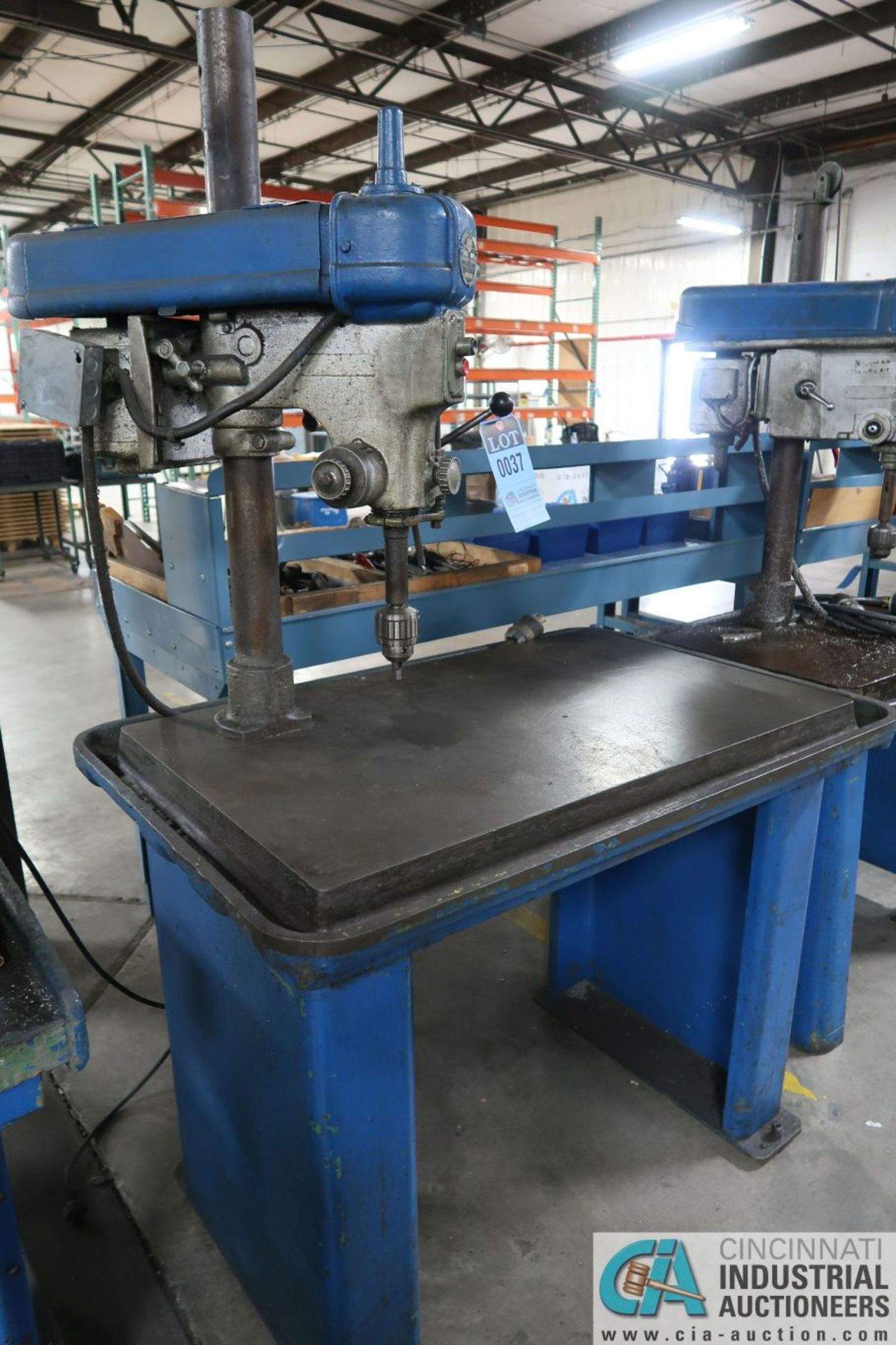 """15"""" WALKER-TURNER SINGLE SPINDLE MACHINE BASE MOUNTED DRILL, 24"""" X 40"""" DRILL BASE"""