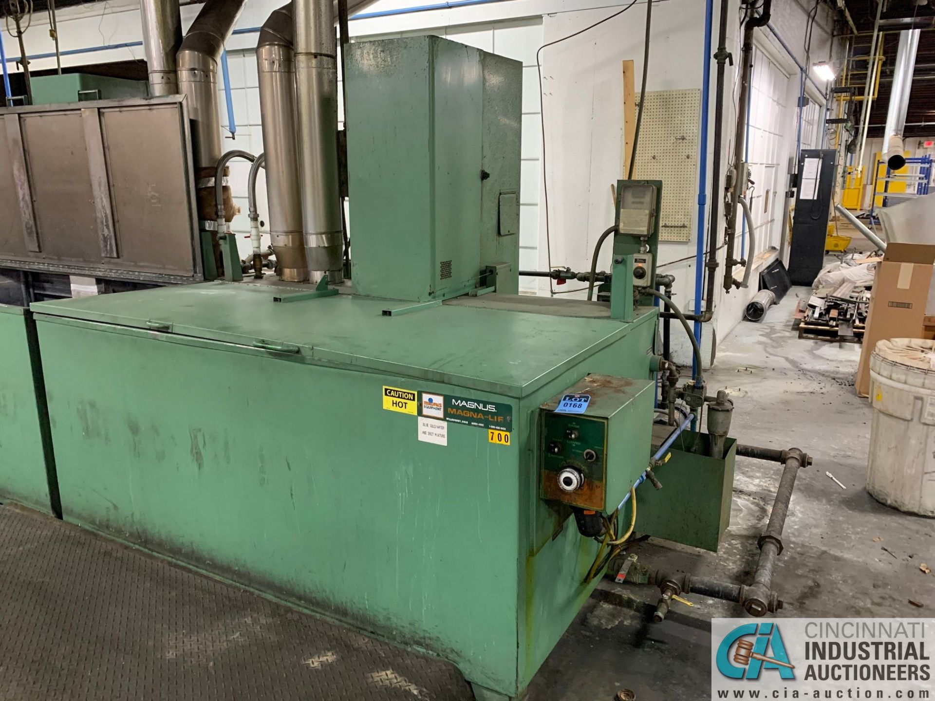 MAGNUS MAGNA-LIF MODEL MALH SIZE 5.5 DIP TYPE WASHER; S/N 50231, 600 GALLON TANK, 1,000 LB. CAPACITY