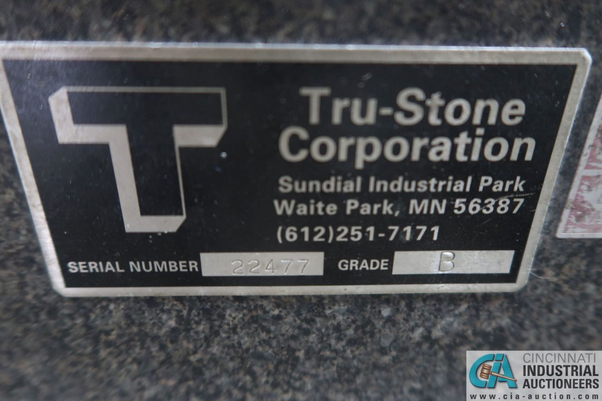 """36"""" X 48"""" X 6"""" THICK TRU-STONE BLACK GRANITE SURFACE PLATE WITH PORTABLE CART - Image 3 of 3"""