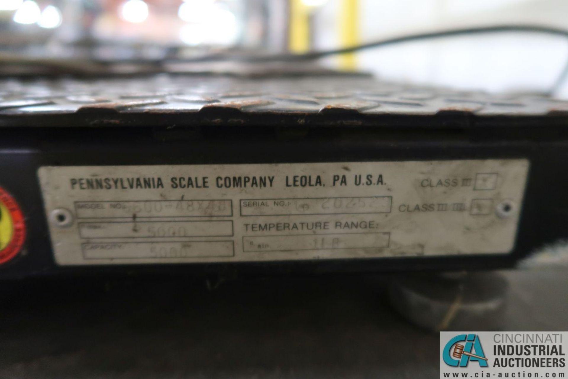 "5,000 LB. CAPACITY PENNSYLVANIA MDOEL 6600 48"" X 48"" PLATFORM SCALE WITH PENNSYLVANIA MODEL 5600 - Image 3 of 3"