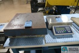 250 LB. ELECTROSCALE MODEL LC-1818 BENCH PLATFORM SCALE WITH METTLER-TOLEDO ICS465 DIGITAL
