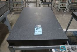 "23"" X 35"" X 4"" THICK BLACK GRANITE SURFACE PLATE WITH STAND"