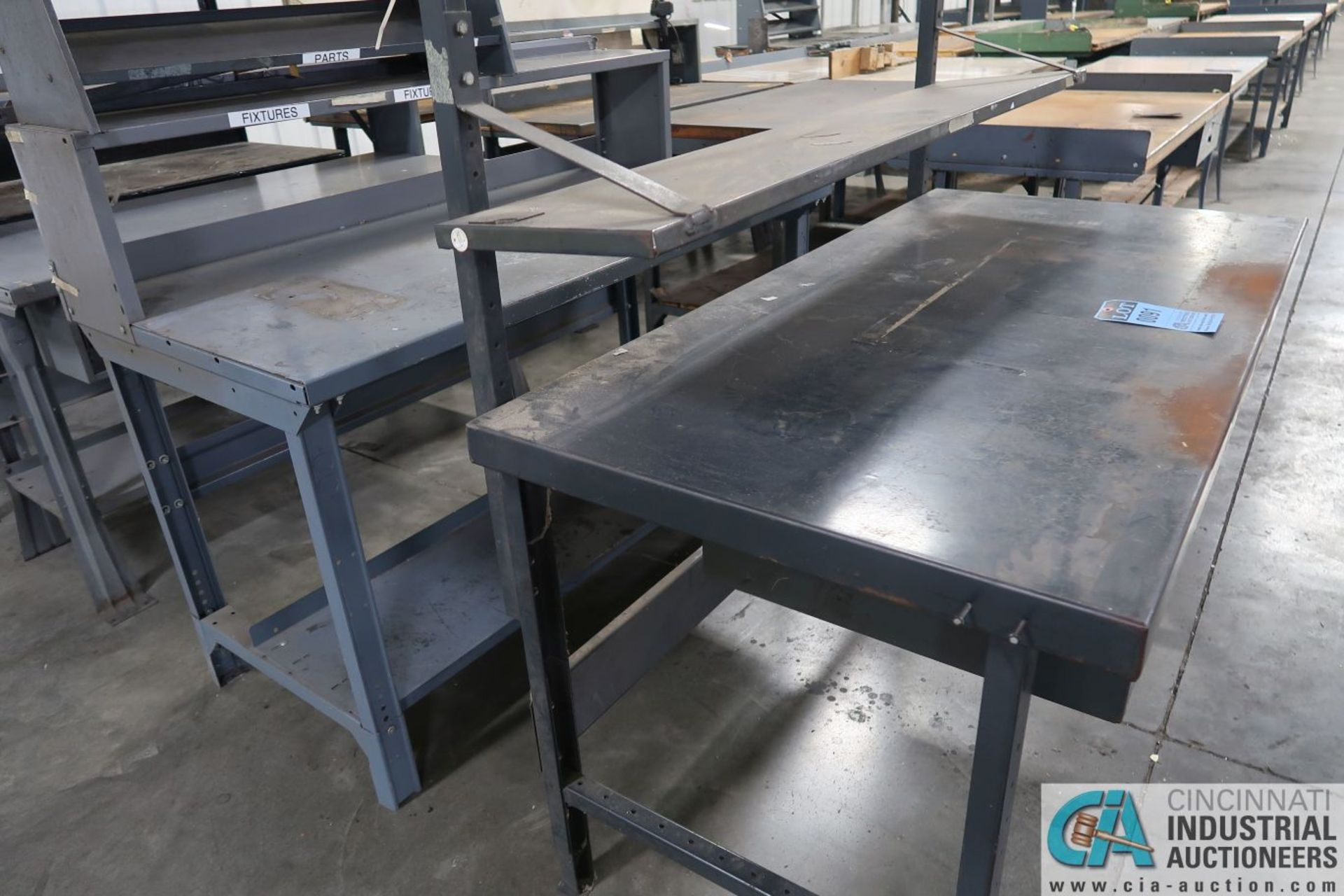 """30"""" X 60"""" X 34"""" HIGH STEEL WORK STATIONS - Image 2 of 4"""