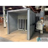 "8' X 6' X 90"" DEIMCO 08-08-06-2-3K POWDER COAT BOOTH - Approx. $30,000 replacement cost"