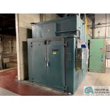 5' X 6' X 7' HIGH (APPROX.) GRIEVE MODEL WTH-566-800 ELECTRIC BATCH OVEN; S/N 94826A0708, 375 DEGREE