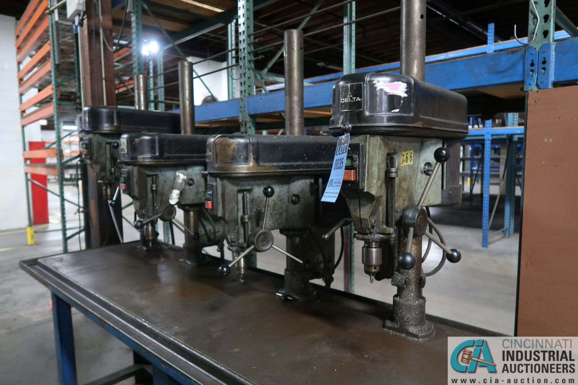"""15"""" DELTA MODEL 15-270 FOUR-SPINDLE BASE MOUNTED PRODUCTION DRILLS, 30"""" X 102"""" X 36"""" HIGH STEEL - Image 3 of 7"""