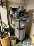 7.5 HP INGERSOLL-RAND MODEL 2475N7.5230 VERTICAL TANK AIR COMPRESSOR, WITH CURTIS MODEL CHT35