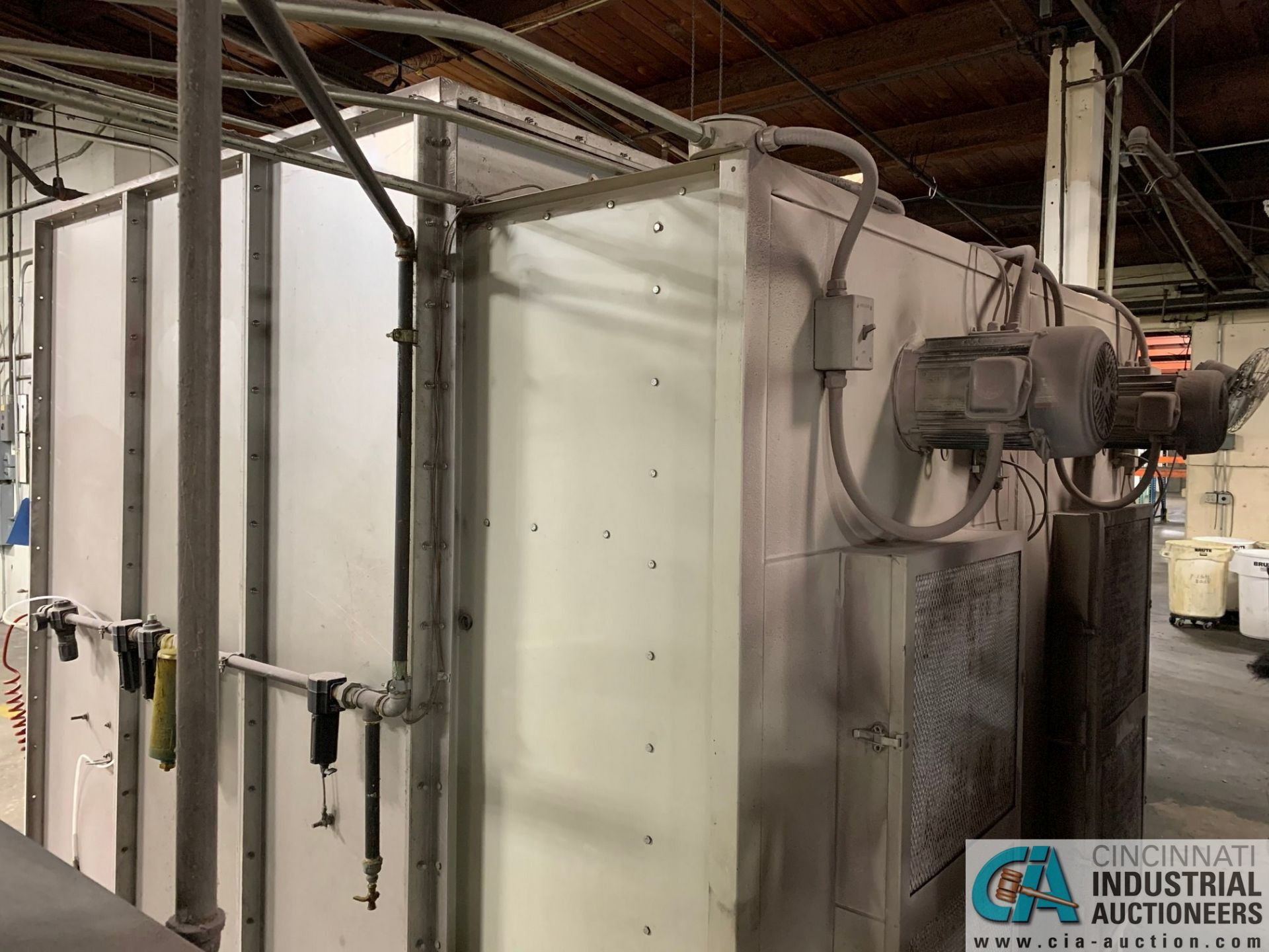 "8' X 6' X 90"" DEIMCO PWI-08-08-06-2-3K POWDER COAT BOOTH - Approx. $30,000 replacement cost - Image 9 of 11"