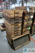 "16"" X 30"" X 3-1/2"" DEEP WOOD TRAYS"
